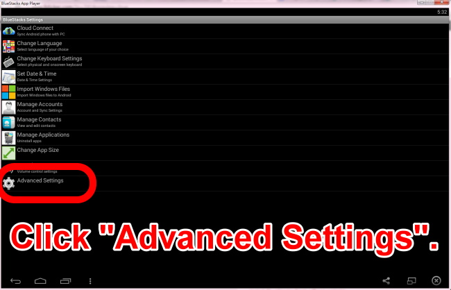 11 click advanced settings
