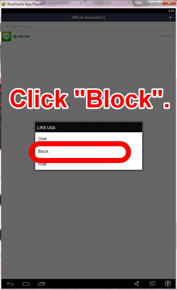 14 make a long click on left button of mouse. and then choose block to remove someone from your friend list on LINE