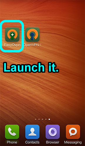 3 launch EasyOvpn
