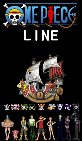 LINE theme for Android_Black ONE PIECE (1)