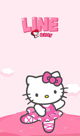 LINE theme for Android_Dancing Hello Kitty (1)