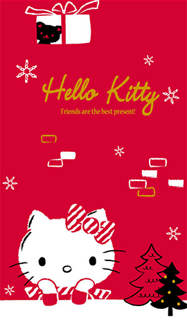 LINE theme for Android_Pink Hello Kitty (1)