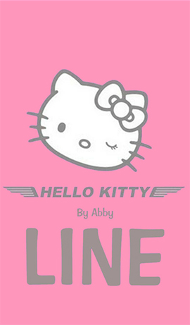 LINE theme for android 1- hello kitty