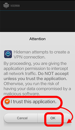 downloading process of hideman for android  (7)
