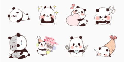 20141229-Download free line sticker 1021884-Yururin Panda