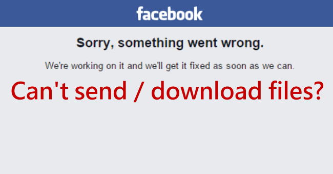 Can't send or download FB files successfully