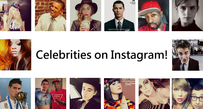 Celebrity list on Instagram - Famous people to follow on IG