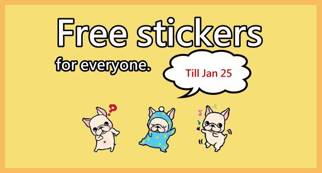Download free LINE sticker_French Bulldog