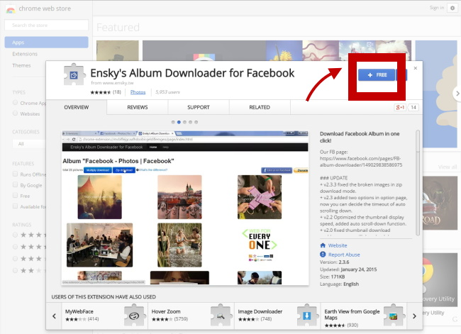【FB Tips】Download Facebook albums in one click 1