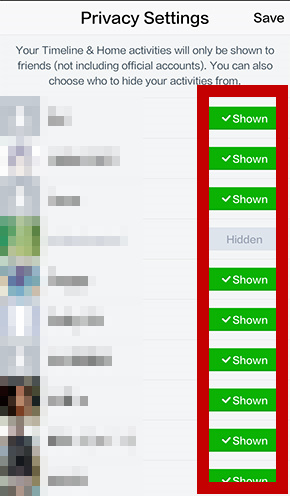 【LINE tips】Manage Time Hidden List , Notification & Privacy Settings_3