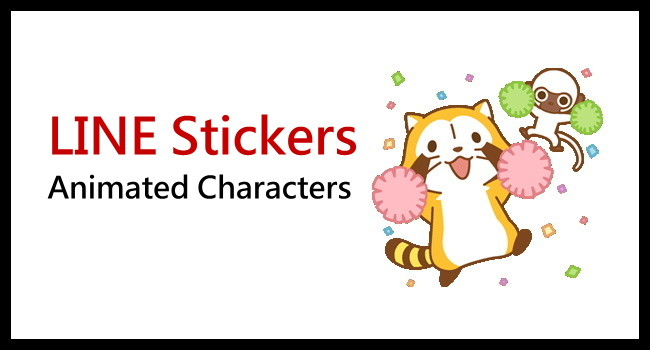 Animated LINE Stickers of RASCAL and Disney Marie_650
