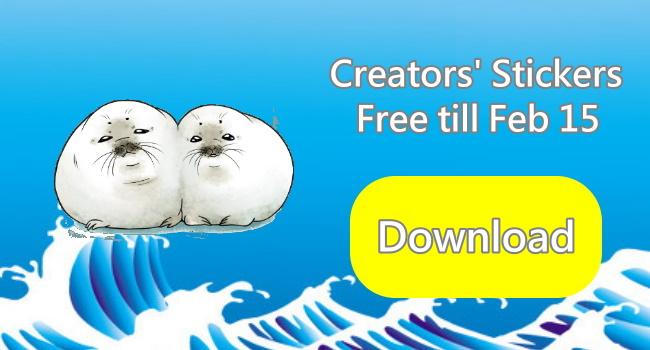 Free creators' LINE stickers-MOCHI GOMA_650