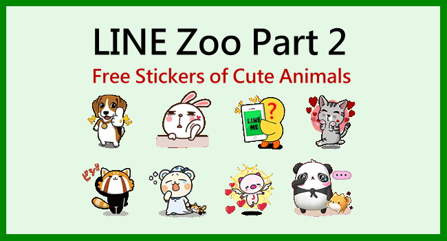Animated LINE stickers Labito and Kinoko