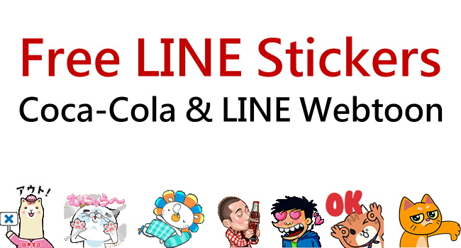 Free LINE stickers of Coke Cola & LINE Webtoon_650