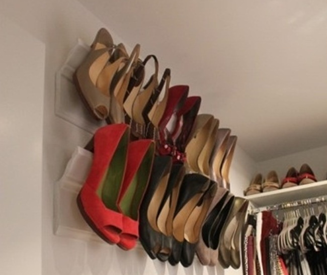 【Life Tips】Awesome Ideas to Organize Shoe Closet by door (2)