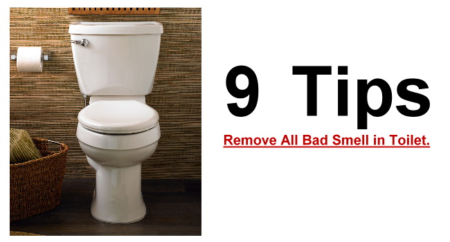 Remove bad odors from bathroom 1