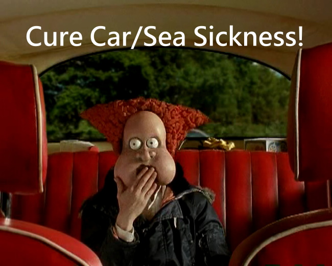 Cure Car Sickness and Sea Sickness1