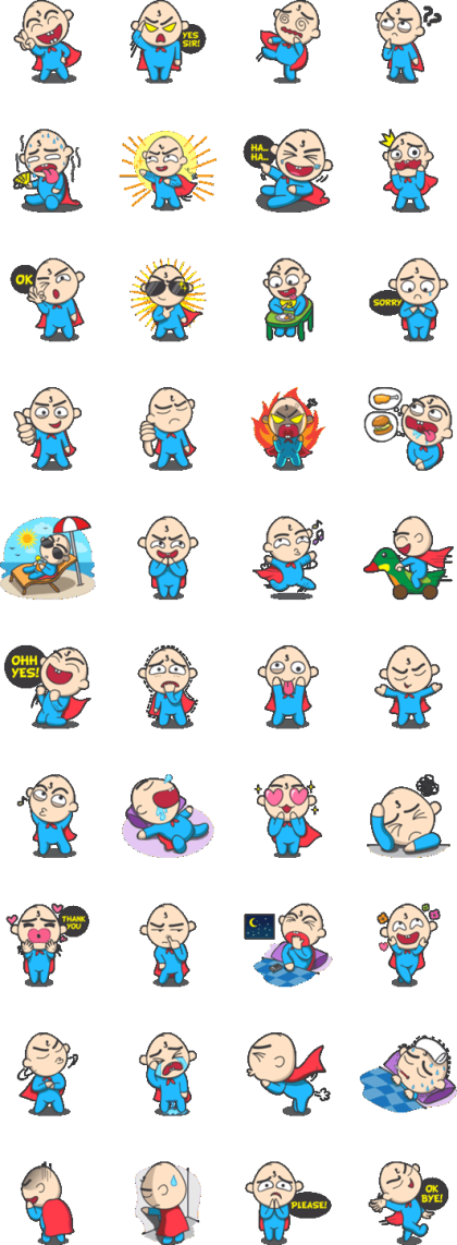 LINE-STICKER-SuperBaby