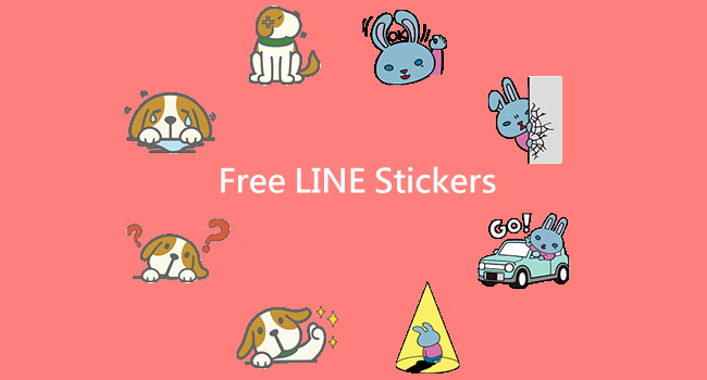 【LINE stickers】Free List of  Enta & Lapin-kun