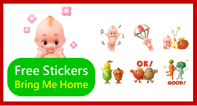 Free LINE Stickers-Hidden LINE Stickers KEWPI