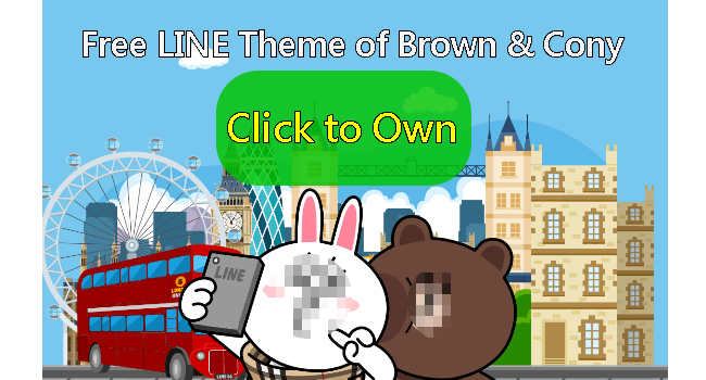Free LINE Theme for Android and iOS_Brwon & Cony 5