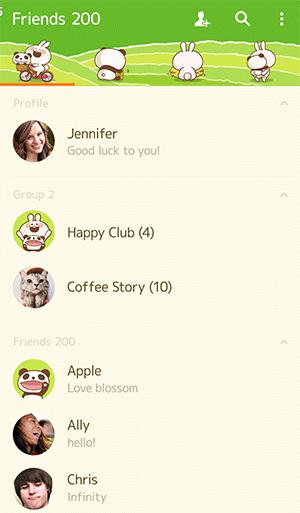 【Free List】LINE Theme PANDA & Lovely Rabbit. Android &iOS (2)