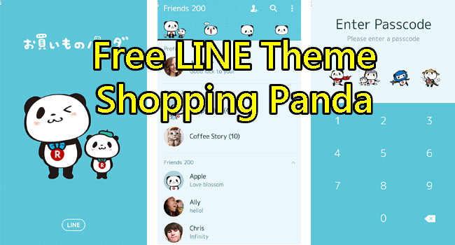 LINE theme of shopping panda for Adroid and ios (5)