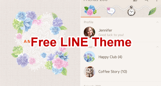 Free LINE Theme for Android & iOS (6)