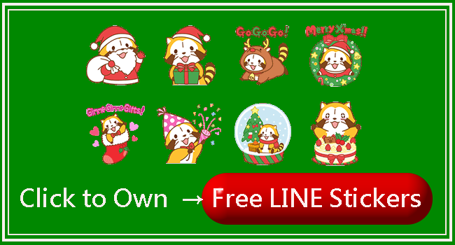 free LINE sticker list 1214 650