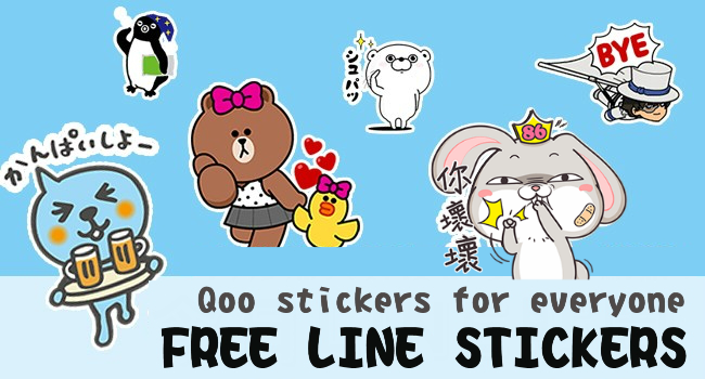 line stickers are free...
