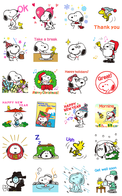 161219 LINE Stickers List (史努比全區)