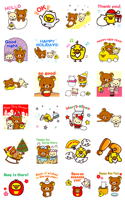 161219 LINE Stickers List (拉拉熊全區)