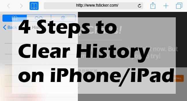 clear history safari iphone ios tips 4 steps to clear history on iphone fsticker 5760